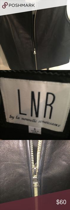 LNR leather vest The softest leather I have ever felt! So nice and well made! LNR Jackets & Coats Vests
