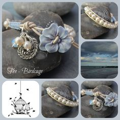 Freshwater Pearl Single Wrap with Ceramic Pansy Button