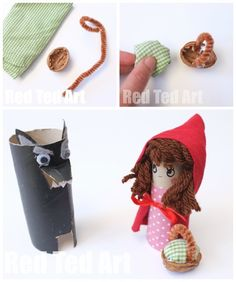 Storybook characters made from cardboard tubes!
