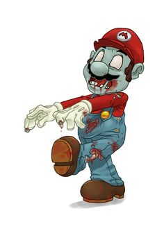Mario It's always an amazing feeling seeing your favourite video game characters [. Zombie Cartoon, Zombie Art, Cartoon Art, Zombie Illustration, Illustration Art, Video Game Characters, Cartoon Characters, Zombie Wallpaper, Zombie Princess