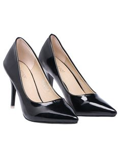 Black High Heel Point Toe Shoes 31.33