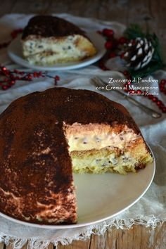 Dolce facile e veloce da preparare, farcito con una delicata e morbida crema. Perfetto durante le festività natalizie e – anche dopo – per consumare il pandoro avanzato… Pancakes, French Toast, Pandora, Pie, Breakfast, Desserts, Cream, Mascarpone, Torte