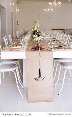 diy Wedding Crafts: Hussian Cloth Table Runner
