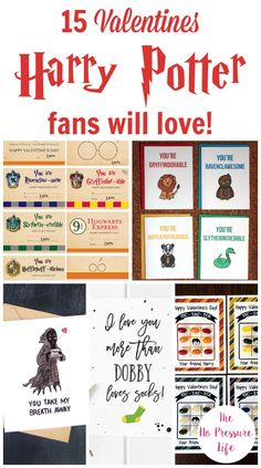 Calling all Potterheads! These Harry Potter Valentines cards are perfect for kids and adults who wish they were a Gryffindor, Ravenclaw, Hufflepuff, or Slytherin! Check out this collection of free printable Harry Potter Valentines or ones that you can order from Etsy. #HarryPotter #Valentines #ValentinesDay #ValentinesDayCards via @nopressurelife