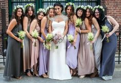 Wedding Ideas: Mismatched Bridesmaid Dresses is the Hottest Wedding Trend