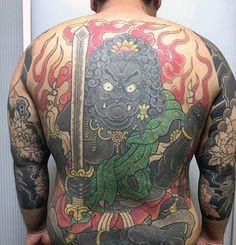50 Fudo Myoo Tattoo Designs For Men - Acala Ink Ideas Samurai Tattoo, Yakuza Tattoo, Full Back Tattoos, Oriental Tattoo, Irezumi, Tattoo Designs Men, Mens Fashion, Tattoo Ideas, Tatoo