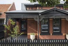 Old Meets New - Creating a Northcote Family Home - Build Her Collective Bungalow Exterior, House Paint Exterior, Exterior House Colors, Modern Exterior, Exterior Design, Edwardian House, Victorian Homes, Modern Brick House, Red Brick Exteriors