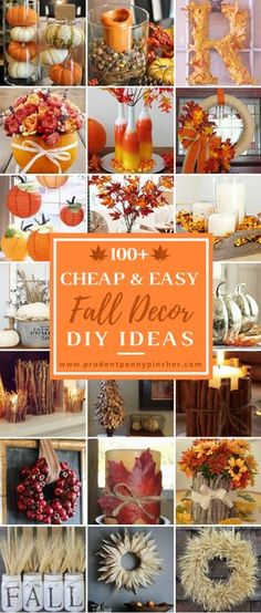 Check out these cheap and easy fall porch ideas that will give your front porch a cozy and inviting makeover. These budget-friendly ideas will give you some inspiration for how to decorate your porch with pumpkins, gourds, corn stalks, hay bales and much more! Fall Porch Signs Welcome Fall Sign  pallet wood + large wood letters + …