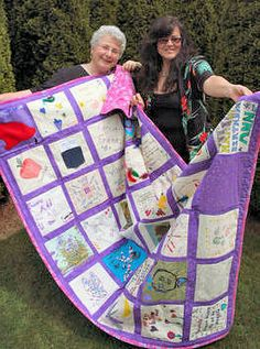 My daughter had everyone at my 70th birthday party make a piece for this amazing quilt.  What a gift!  (Both quilt AND daughter!)