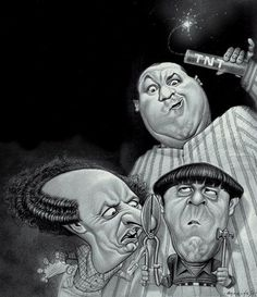 "The Three Stooges were an American vaudeville and comedy act of the mid–20th century best known for their numerous short subject films, still syndicated to television. In films, the Stooges were commonly known by their first names: ""Moe, Larry, and Curly"" or ""Moe, Larry, and Shemp"", among other lineups depending on the films; there were six active stooges, five of whom performed in the shorts. Moe and Larry were always present until the very last years of the ensemble's forty-plus-year run."