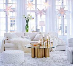 En vit och guldig jul