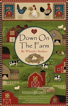Down on the Farm from Windham Fabrics.  To view full collection or order go to www.windhamfabrics.com