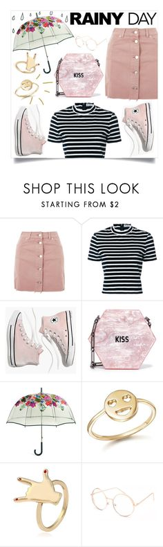"""KISS ME IN THE RAIN"" by soluther ❤ liked on Polyvore featuring Topshop, T By Alexander Wang, Madewell, Edie Parker, Vera Bradley, Bing Bang and Full Tilt"