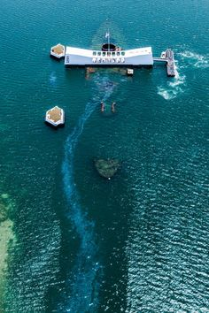 Arizona Memorial, Oil still leaks from the USS Arizona.