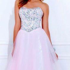 I really like princess style prom dresses(: