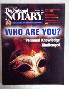Notary public, notaries, lawyers? NATIONAL NOTARY NNA PERSONAL KNOWLEDGE IDENTITY ADOPTION PAPERS GLOBAL EBUSINESS LAW LEGAL - on eBay! $4.98