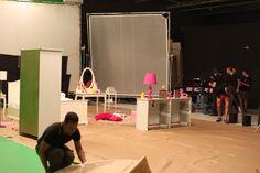 Shooting of Barbie dolls spot in Banzai Studio.   Rodaje del spot de muñecas Barbie en Banzai Studio.