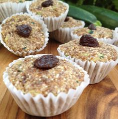 Raw Zucchini Muffins - Feasting on Fruit