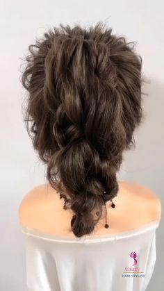 Hairdo For Long Hair, Easy Hairstyles For Long Hair, Up Hairstyles, Hair Upstyles, Hair Videos, Hair Hacks, Curly Hair Styles, Hair Makeup, Hair Cuts