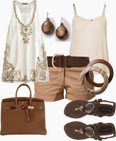 Adorable outfit collection with short and sandals