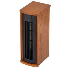1500-Watt Infrared Quartz Oscillating Electric Portable Heater with Remote Control - Oak (Brown)
