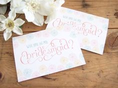 'Will You Be My Bridesmaid' Free Printable by Stelloberry Designs