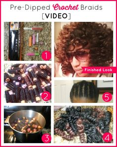 7 STEP VIDEO: HOW TO DO PRE-DIPPED CROCHET BRAIDS WITH MARLEY HAIR