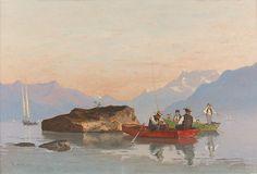 """""""La Partie de pêche à Rivaz"""", par François Bocion"""