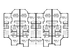 3 bedroom condo floor plans google search home for Multi family condo plans
