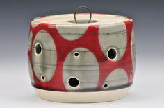 Red Garlic Jar