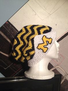 Michigan Chevron Slouchy  by CreativeDesignsByMel on Etsy, $35.00