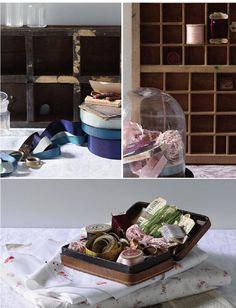 antique thread spools // La boîte à ouvrage Thread Spools, Diy, Antiques, Author, Artist, Home Decor, Antiquities, Antique, Decoration Home