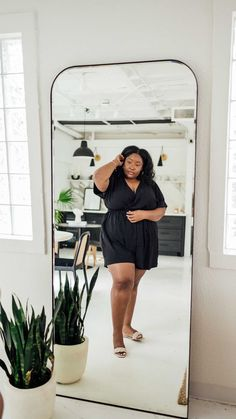 fromheadtocurve on Instagram: Y'alls favorite romper is now on sale at @eloquii for 30% off 🙌🏾 Only a few sizes left in black & more sizes in another color. I'm wearing… Plus Size Fashion, Rompers, How To Wear, Instagram, Black, Color, Style, Swag, Black People