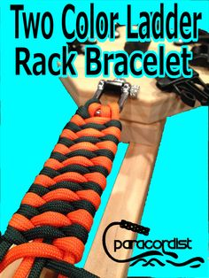 New Video in Progress - How to Tie the Two Color Paracord Ladder Rack Bracelet