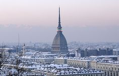 Snow in Torino, Italy Follow: http://portraitoftorino.blogspot.it/