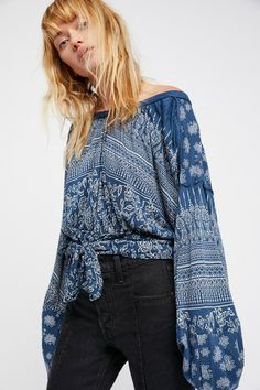 Blue Weekend Warrior Top at Free People Clothing Boutique