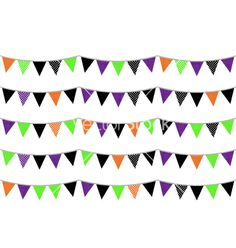 Halloween flags or bunting isolated on white vector 1282645 - by lordalea on VectorStock® Halloween Bunting, Flag Vector, Adobe Illustrator, Vector Free, Flags, Illustration, Colorful, Illustrations, National Flag