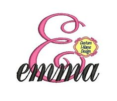 Fancy Monogram Design, Embroidery Font, Machine Embroidery Font, Script Font, Custom Made For You on Etsy, $5.99