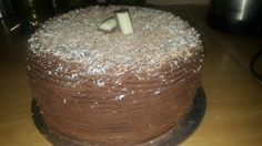 choc moist top deck ganache cake