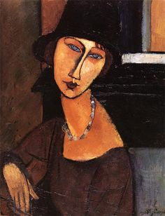 """The pallette of Amedeo Clemente Modigliani. """"Jeanne Hebuterne with Hat and Necklace"""" See adjacent pin for the pallette of Amedeo Clemente Modigliani used for this painting. Amedeo Modigliani, Modigliani Paintings, Oil Paintings, Italian Painters, Italian Artist, Illustration, Oil Painting Reproductions, Art Moderne, Stretched Canvas Prints"""