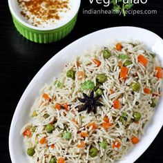 pulao recipe – an easy one pot Indian rice pilaf cooked with mild spices and veggies. Pulao or pulav is one of the most common rice dishes that is often made in most Indian homes. It is also the one m (How To Cook Mix Vegetables) Lunch Box Recipes, Vegetable Recipes, Vegetarian Recipes, Cooking Recipes, Healthy Recipes, Vegetable Curry, Cooking Food, Recipes Dinner, Veg Pulao Recipe