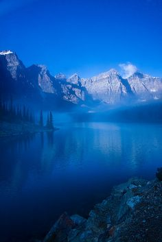 misty Moraine Lake - Banff National Park, Alberta, Canada  (©Jerry Mercier)