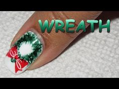 12 Days of Christmas, Day 5: Wreath | Nail Art Tutorial - YouTube