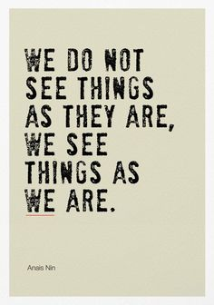 We See Things as We Are Poster Print / Inspirational Quote   Etsy