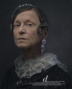 """""""Family Jewels"""": Creepy Old Master Portrait-Inspired People in Jewels by Peter Lippmann in Marie Claire 2"""