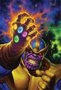 "extraordinarycomics: "" Thanos by Joe Jusko. "" #Thanos #CivilWar #AgeofUltron…"