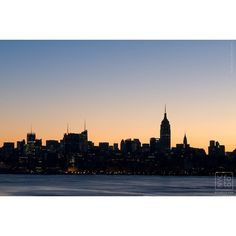 NYC skyline from the Hudson River   New York City Photos ❤ liked on Polyvore