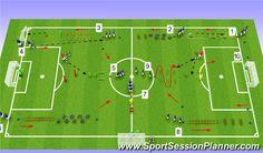 Football Training Drills, Soccer Drills, Soccer Coaching, Circuit Training Workouts, Soccer Workouts, Soccer Conditioning Drills, Preparation Physique, Soccer Gifs, Speed Drills