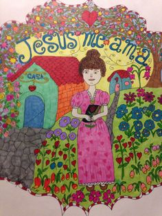 Jesus me ama, painting by Helen Cofone