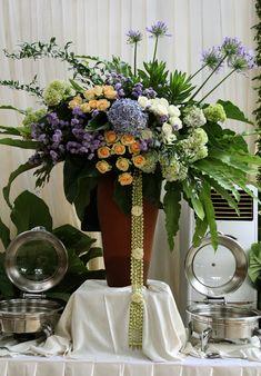 buffet flower arrangement